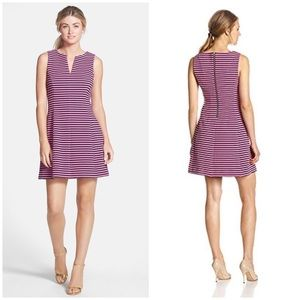 Brielle Fit & Flare Stripe Dress